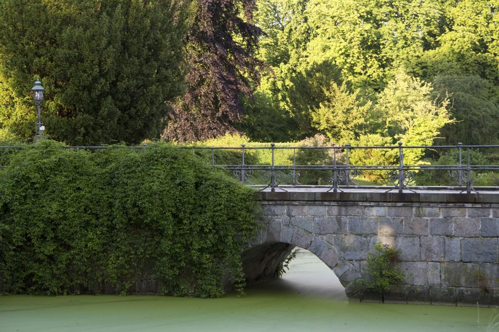 Fra værelserne mod øst kan du frit nyde synet af den gamle bro over voldgraven. Det er her HKH Dronning Margrethe II passerer, når hun besøger Vemmetofte Kloster.